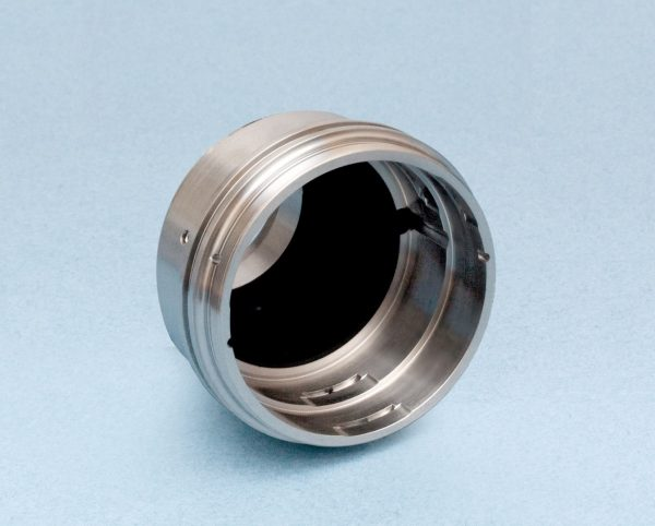 metallic circular component coated with acktar's magic black coating