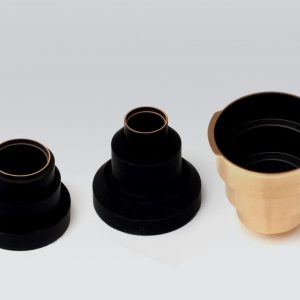 3 components coated with ultra black coating