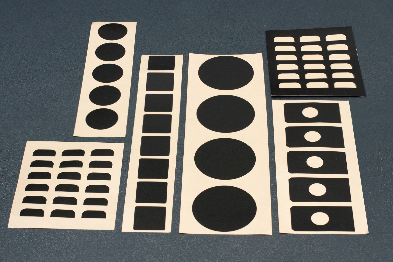 Die-Cut Black Labels